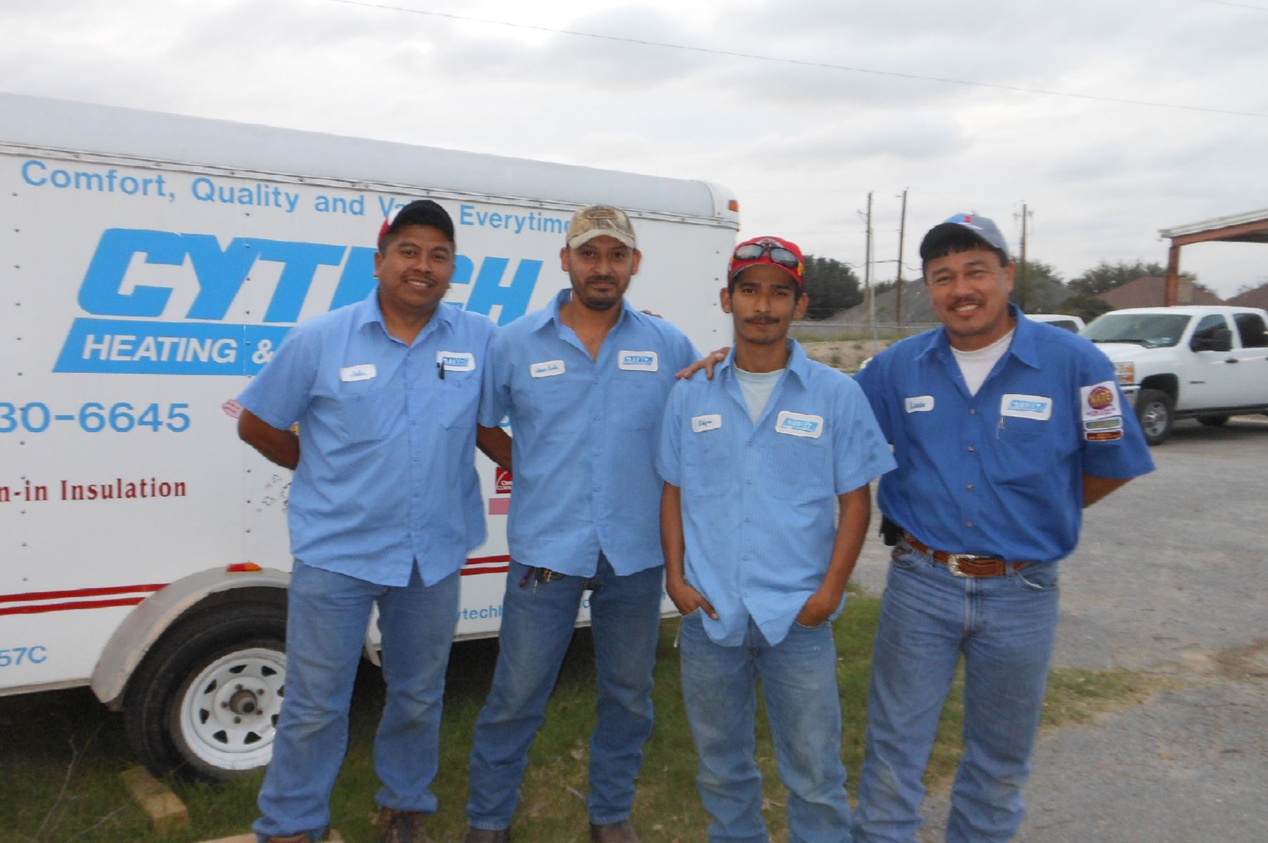 The Cytech crew: Comfort, Quality and Value...Every Time!